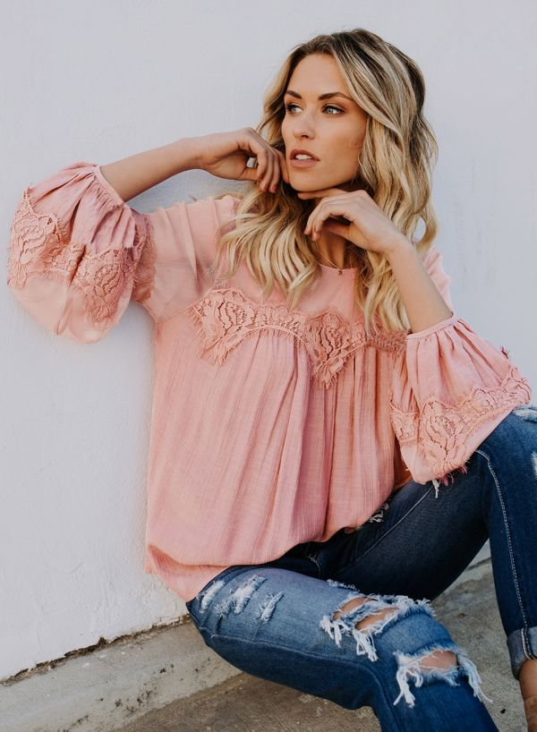 7f3b2850a3d098 Women's Mock Neck Half Sleeve Hollow out Lace Blouse - ROAWE.COM in ...
