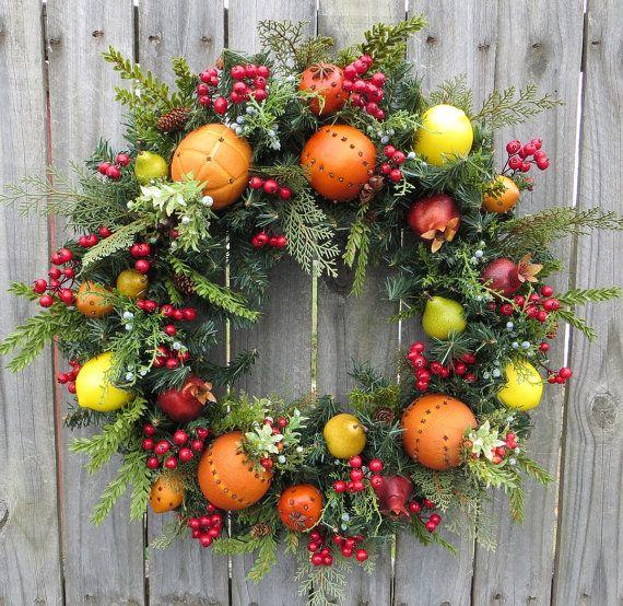 2309 besten christmas wreaths bilder auf pinterest. Black Bedroom Furniture Sets. Home Design Ideas