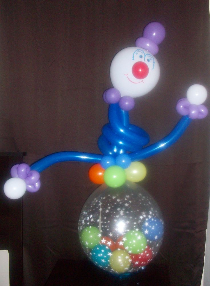 Crazy Clown- This cute clown character will brighten up parties, circus-themed events, and is a perfect get-well gift. Tie a balloon to his arm for a special touch. No matter where you put him, his cute face and happy demeanor will last for days!