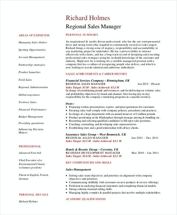 Regional Sales Manager Resume Sales And Marketing Manager Resume What Makes Your Resume Better A Skill Sales Resume Examples Sales Resume Manager Resume