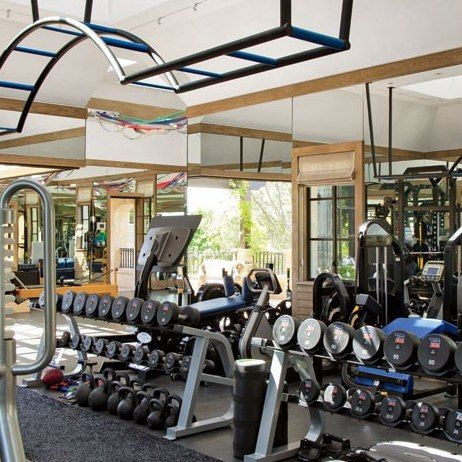 Now THIS is a Home Gym! : Gisele Bündchen and Tom Brady's House in Los Angeles : Architectural Digest