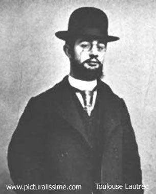 Toulouse Lautrec, 19th-century painter of the infamous Moulin Rouge.