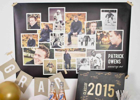 These graduation photo display