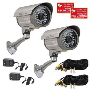 Special Offers - VideoSecu 2 of Outdoor Day Night Vision Infrared Bullet Security Cameras Built-in SONY CCD Wide Angle Lens for CCTV DVR Home Surveillance System with Power Supplies and Extension Cables IRX36S A12 - In stock & Free Shipping. You can save more money! Check It (July 08 2016 at 06:41PM)…