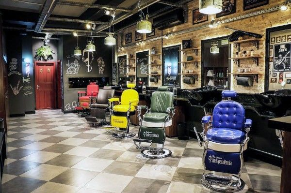 Top 80 Best Barber Shop Design Ideas Manly Interior