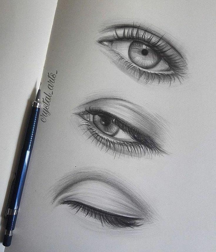 Bleistiftzeichnung Schritt für Schritt Augenzeichnungen (realistisch und bunt)