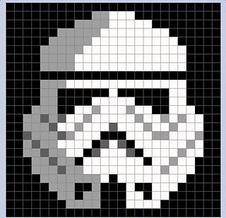 storm trooper c2c pixel blanket
