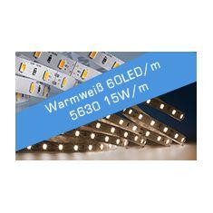 LED Streifen Warmweiß 60 LED/m 15W/m