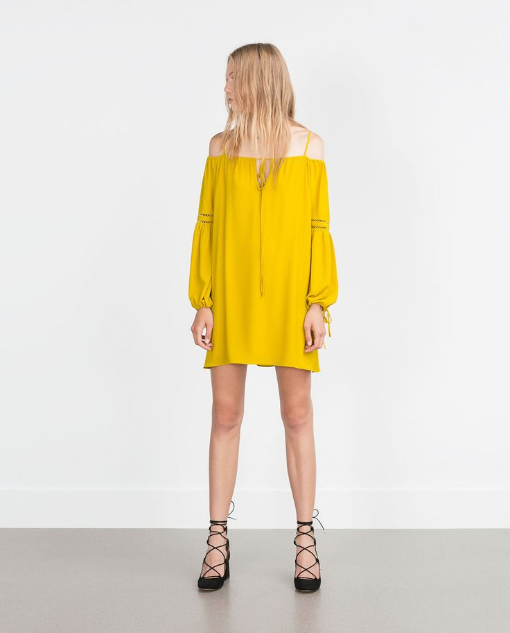 ZARA - COLLECTION AW15 - BOAT NECK DRESS