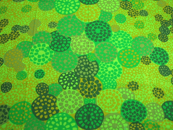 Vintage fabric designed by Marjatta Metsovaara for Tampella, Finland