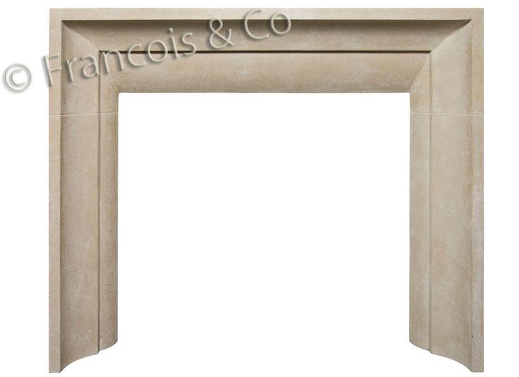 Francois & Co | Contemporary Mantels | Cast Stone Fireplace Surrounds | Limestone Mantels