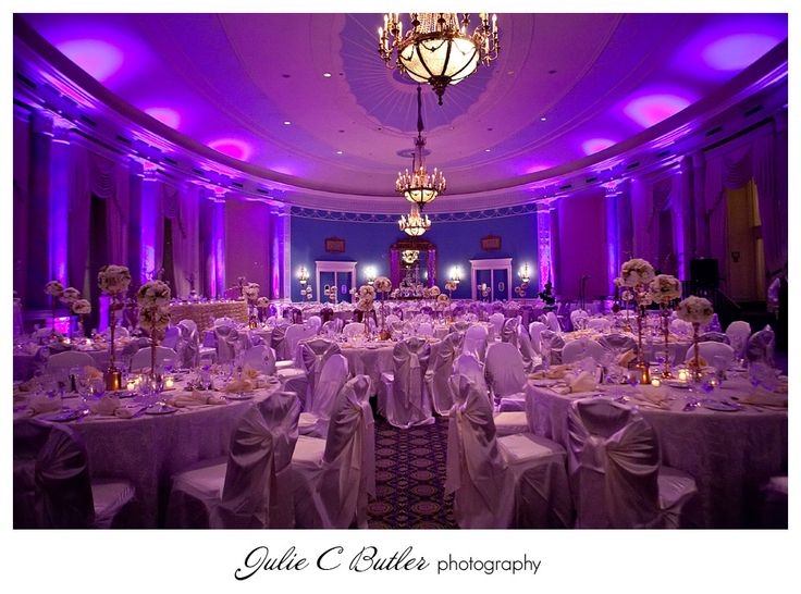 Chateau Laurier adam's room wedding- a bit too much purple but pretty.