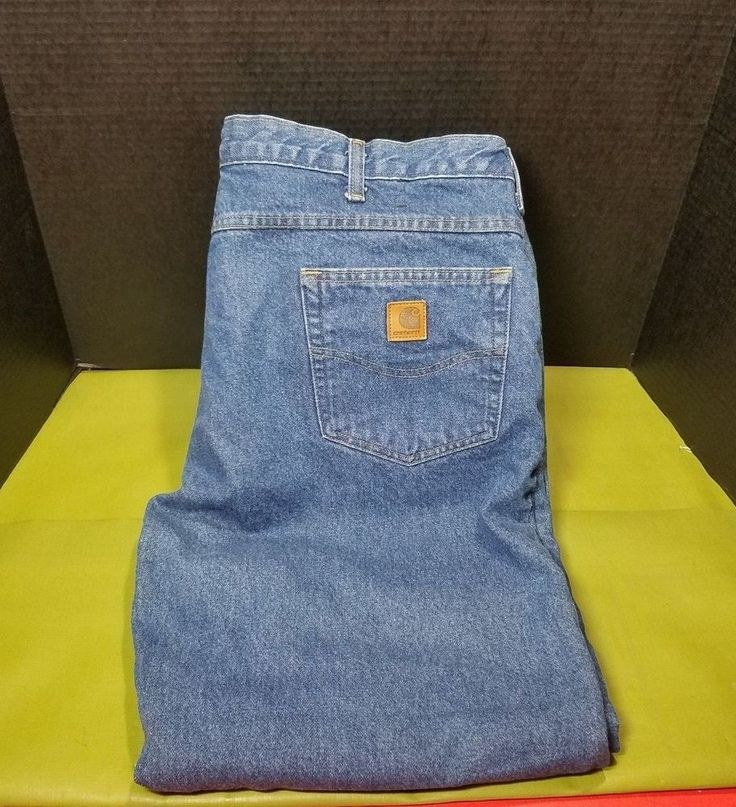 Carhartt Relaxed Fit Flannel Lined Jeans 38x30 #Carhartt #Relaxed