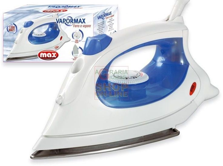 MAX FERRO DA STIRO BASIC 1200W P/INOX http://www.decariashop.it/home/10393-max-ferro-da-stiro-basic-1200w-p-inox.html