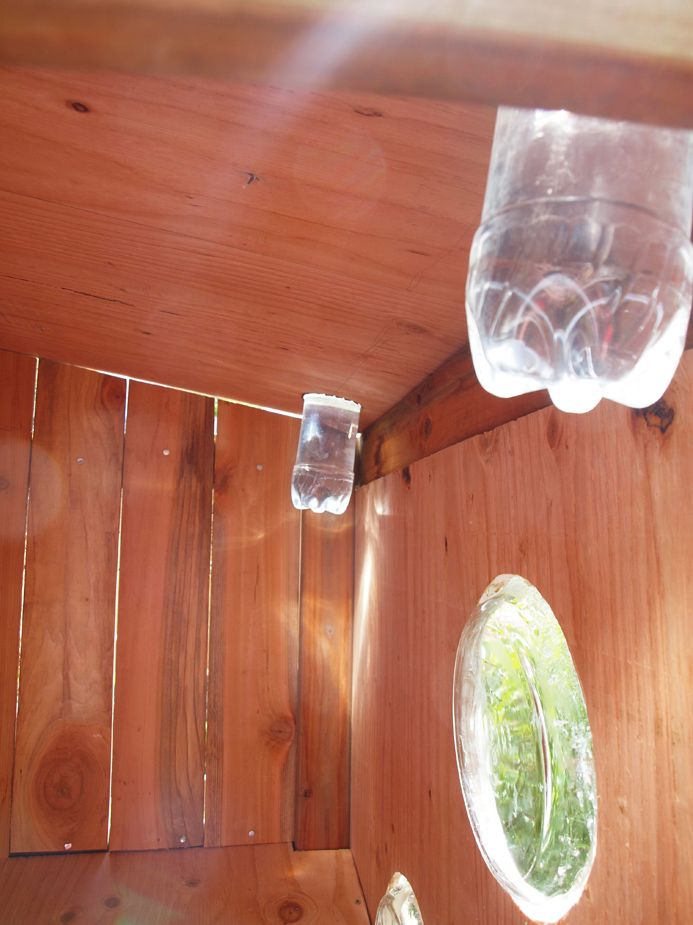 DYI Solar Tubes from Pop bottles for a shed, playhouse or coop