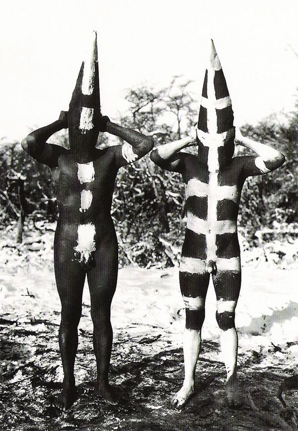 Selknam People during the Hain Ceremony in Tierra Del Fuego  Photos By Martin Gunside taken in 1923