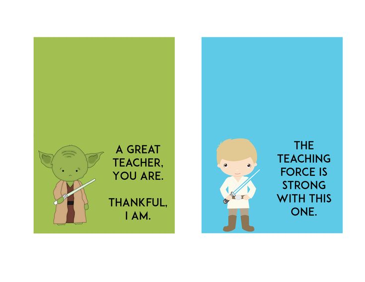 FREE Star Wars Teacher Appreciation Day Printable