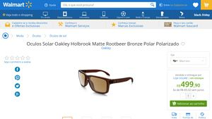 [Wal-Mart] Oculos Solar Oakley Holbrook Matte Rootbeer Bronze Polar Polarizado 3249139 por R$ 499,90
