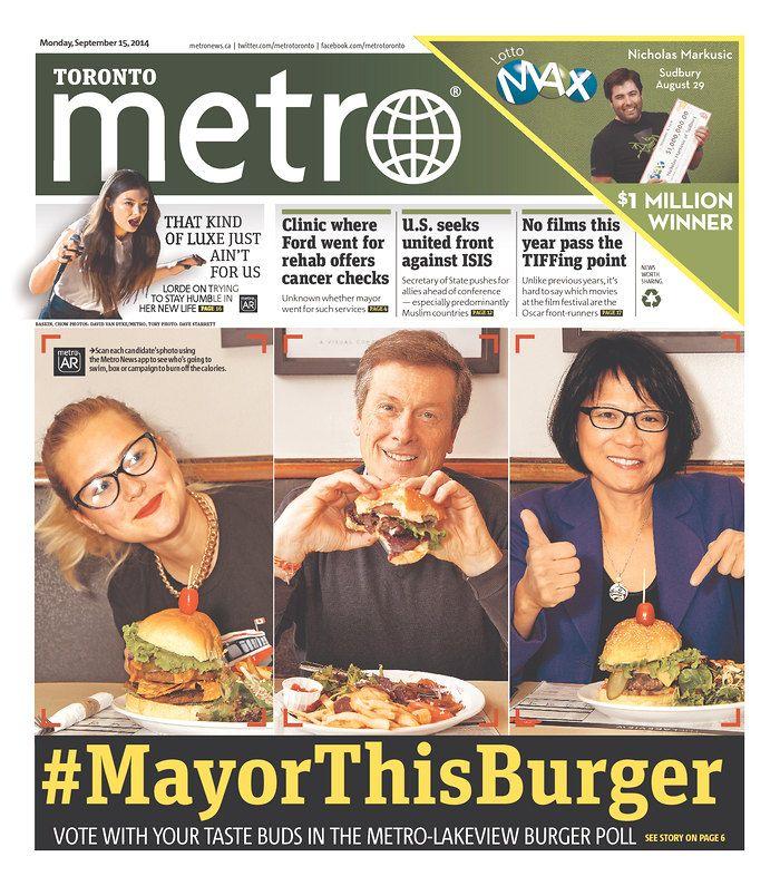 Great look for long-shot, teen Toronto mayoral candidate, Morgan Baskin (http://www.morganbaskin.ca). #MayorThisBurger at The Lakeview restaurant and Metro Toronto.