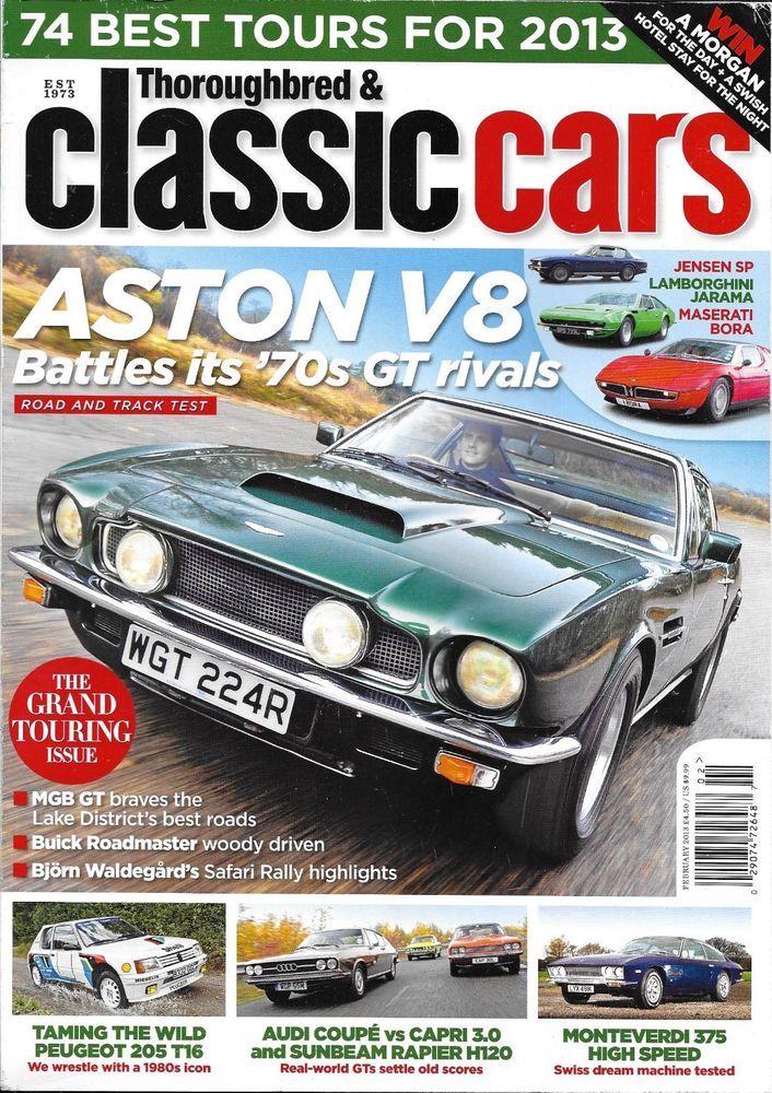 Thoroughbred and Classic Cars magazine Aston V8 Monteverdi Peugeot Riley Kestrel