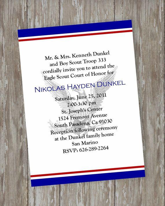 Court Of Honor Invitation was nice invitations design