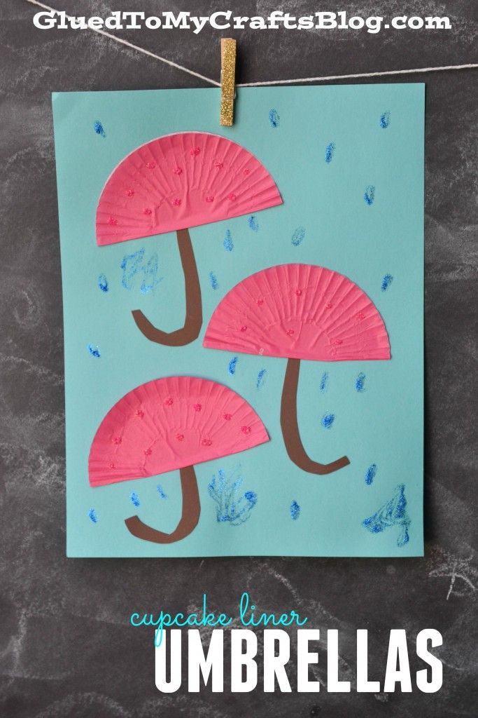 Cute Cupcake Liner Umbrella Kid Craft.