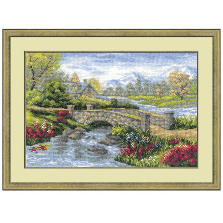 Summer View Counted Cross Stitch Kit - Cross Stitch, Needlepoint, Embroidery Kits – Tools and Supplies