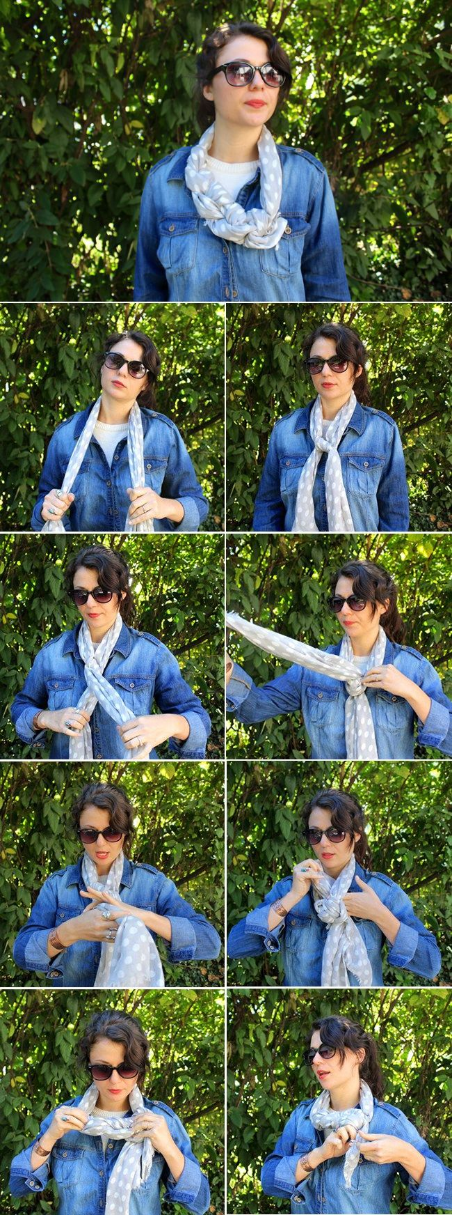 Braided Scarf | 13 stylish ways to tie a scarf | HelloNatural.co