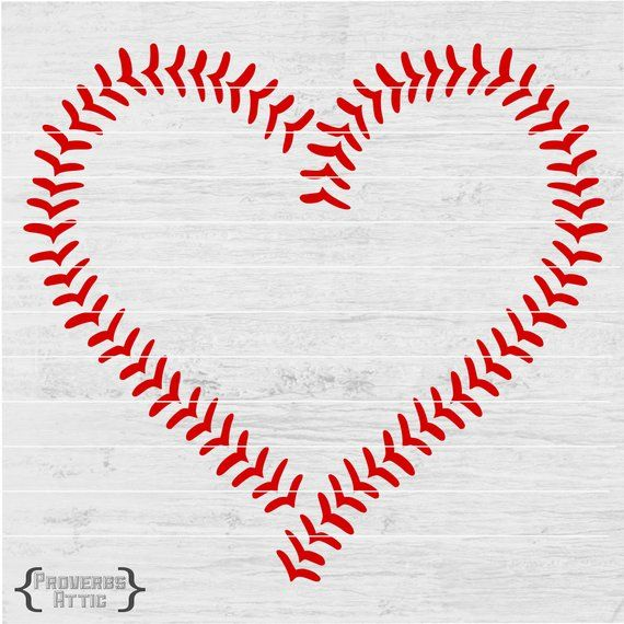 Baseball Heart Stitches Sports File For T Shirt Iron On Etsy Baseball Valentine Printable Vinyl Cricut