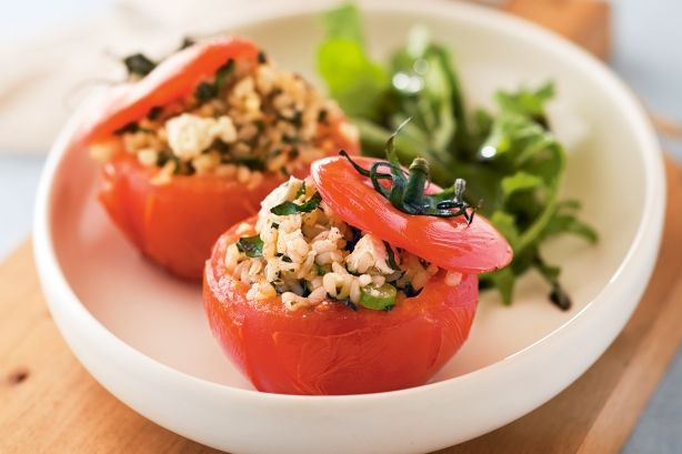 Quick and easy, these stuffed tomatoes make a delicious starter, side dish or main meal.