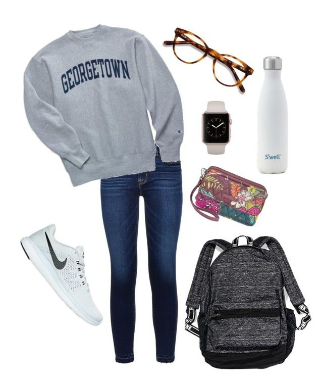 """""""It's Almost Fall Break!!!"""" by morgan-deanna on Polyvore featuring Hudson, Champion, NIKE, EyeBuyDirect.com, Vera Bradley and Victoria's Secret"""