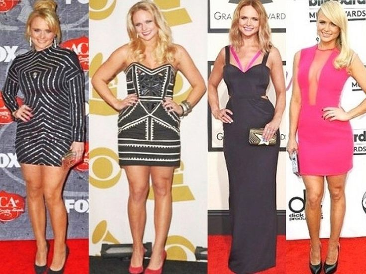 Miranda Lambert attending red carpet events before and after her weight loss. See the difference!?