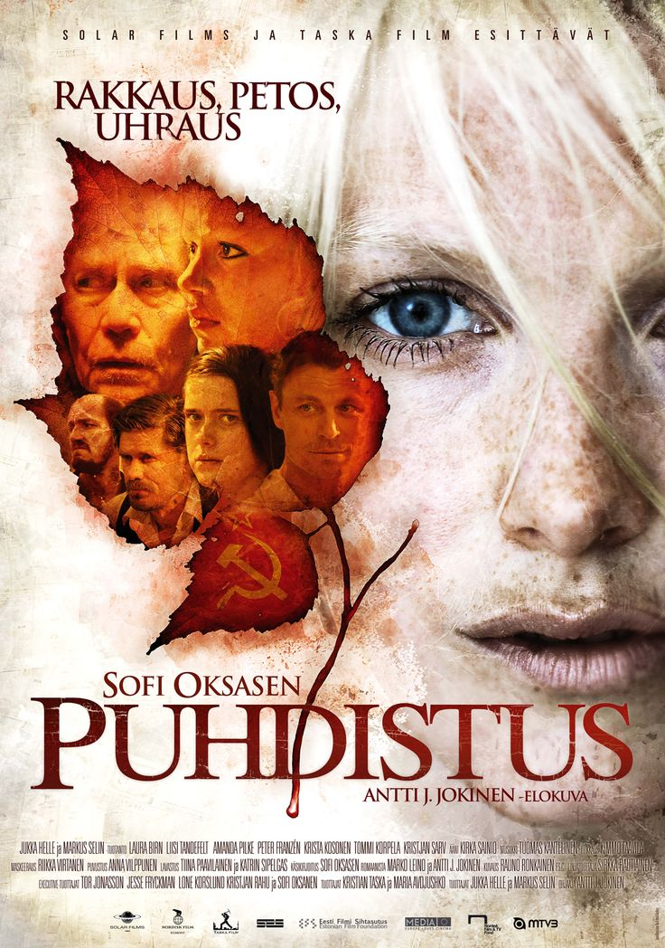 "The poster from the Finnish film PUHDISTUS (""Purge""), featuring Laura Birn photographed by Henrik Karlberg (2012)"