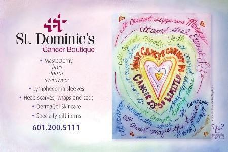 St. Dominic's Hospital Cancer Boutique Announcement Postcard