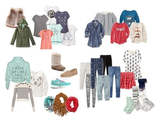 Girls Wardrobe Capsule by sabrinahjordan on Polyvore featuring Isabel Marant, American Apparel, WearAll, Old Navy, TOMS, Michael Stars, Carter's, women's clothing, women's fashion and women