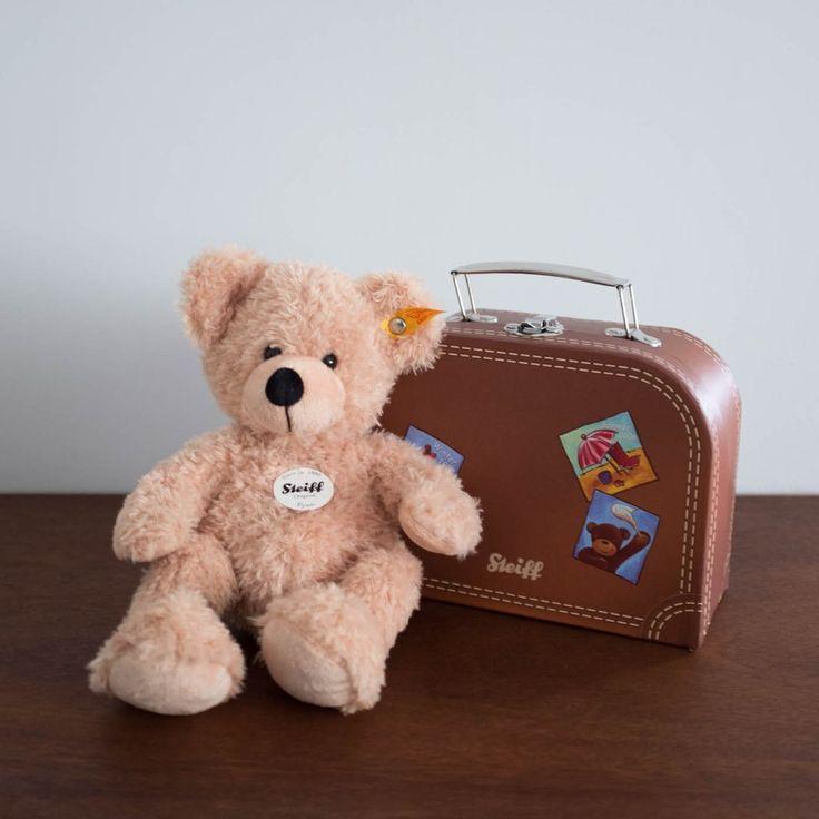 Steiff Teddy Bear with Luggage Set