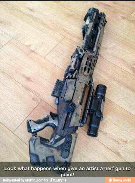 Artist's nerf gun / iFunny :)