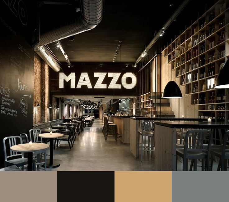 10 RESTAURANT INTERIOR DESIGN COLOR SCHEMES Link: http://www.delightfull.eu/en/inspirations/contract/restaurant-interior-design-color-schemes/