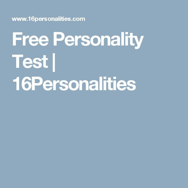 Free Personality Test | 16Personalities
