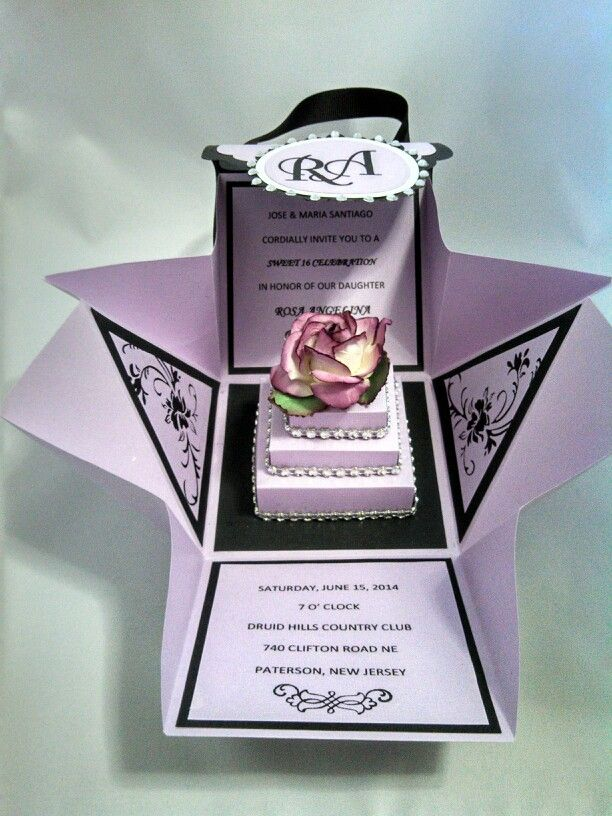 Best Sweet Sixteen Invitations Images On Pinterest Communion - Creative diy birthday invitations in a box