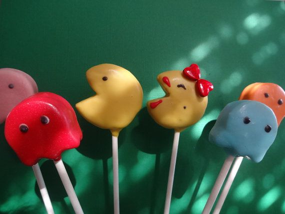 Pac Man Cake Pops by SweetSetups on Etsy, $24.00