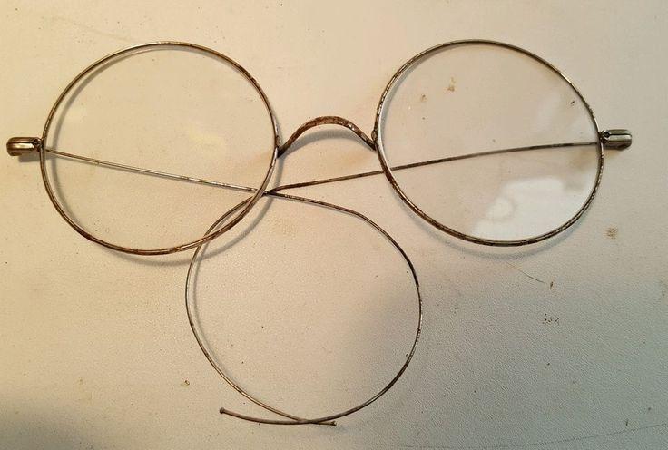 """Antique 2"""" Diameter Round Steel Rim Safety Glasses, USA  Steampunk #Unbranded #Round #Safety"""