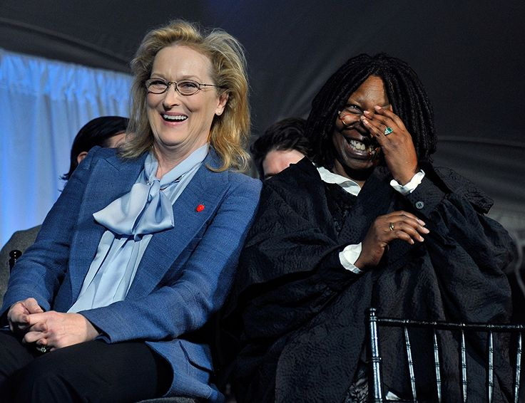 Whoopi Goldberg and Meryl Streep