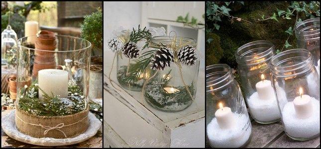 17 migliori idee su vasetti di natale su pinterest - Vasetti di vetro decorati ...