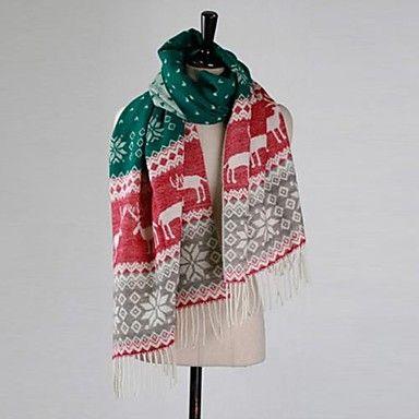 женская теплая рождественская снег олень с кисточкой шарф – RUB p. 511,95