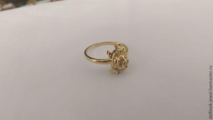 Купить Кольцо из золота Черепаха - золотой, черепаха, кольцо-черепаха, черепаха из золота, необычное кольцо