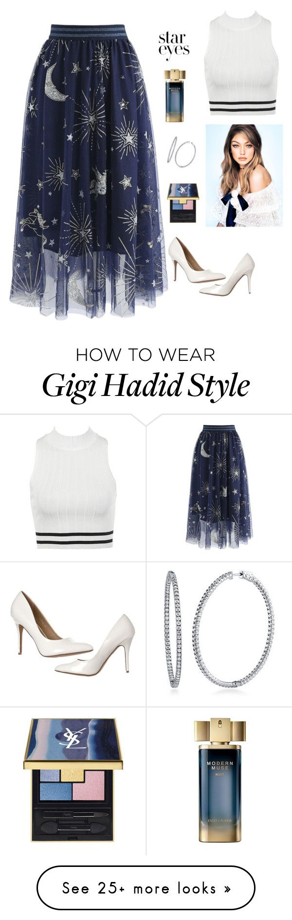 """Stars...."" by ivanazb on Polyvore featuring Chicwish, BERRICLE, Estée Lauder and StarOutfits"