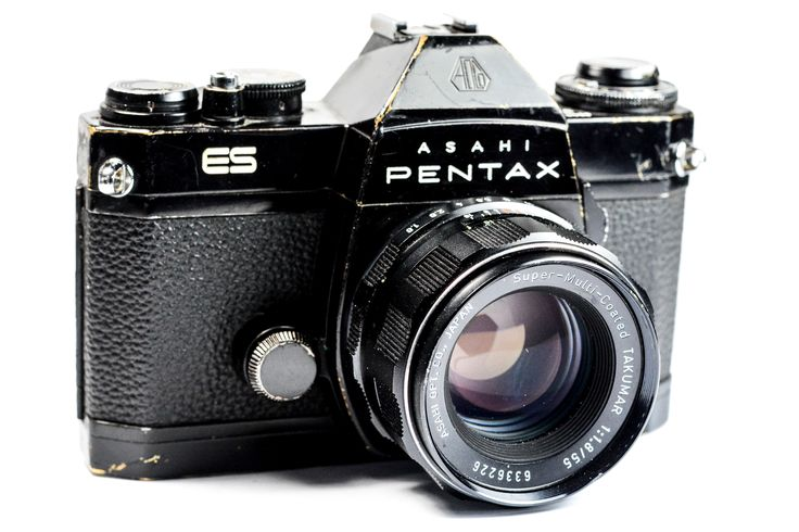 Pentax ES 35mm SLR Camera with Super Takumar 55mm Lens #Pentax #Camera #Vintage #Photography #Filmphotography