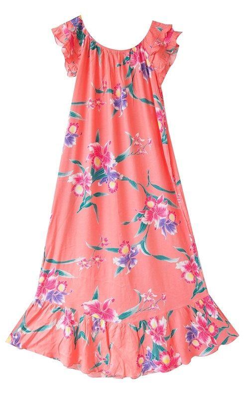 Vintage Hawaiian Dress/ floral dress  /  maxi dress/ by LPSNUG