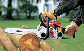We have a great selection of Stihl chain saws, like this one, for all of your needs at Mountain Hardware!